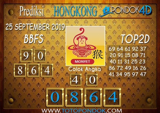 Prediksi Togel HONGKONG PONDOK4D 25 SEPTEMBER 2019