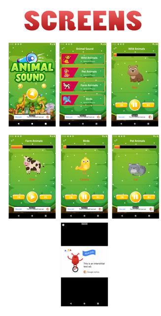 Kids Animal Sound Learning app ScreenShot