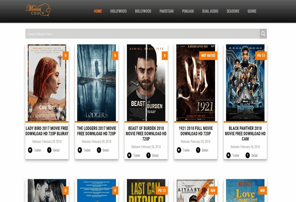 Movie Downloader Website