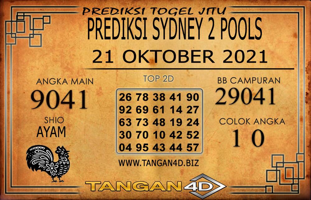 PREDIKSI TOGEL SYDNEY2 TANGAN4D 21 OKTOBER 2021
