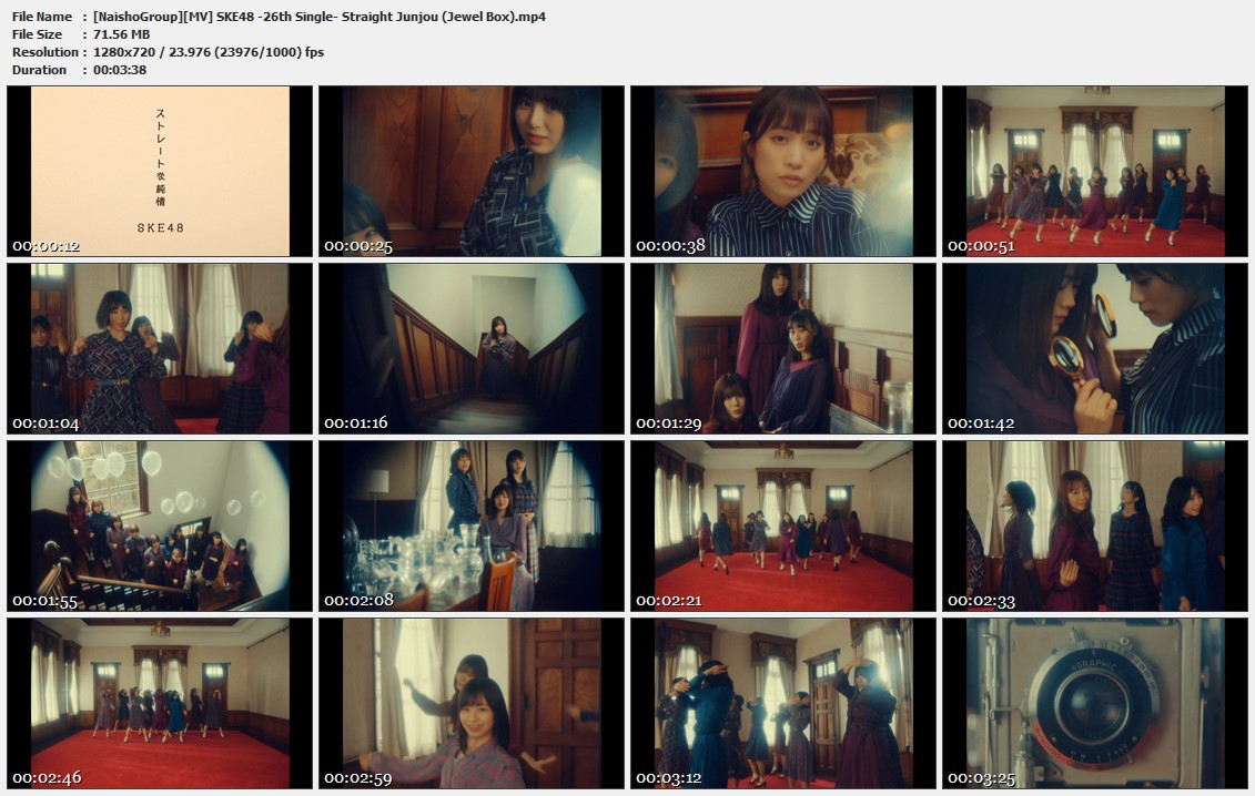 Naisho-Group-MV-SKE48-26th-Single-Straight-Junjou-Jewel-Box-mp4