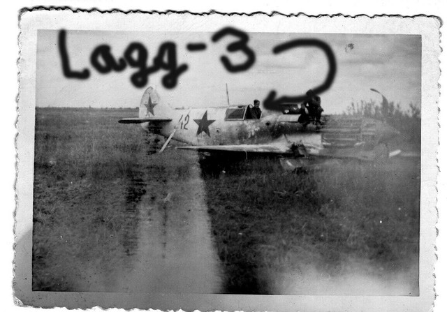 Orig-Foto-Luftwaffe-beute-Flugzeug-Lagg-3-Leningrad-Rata