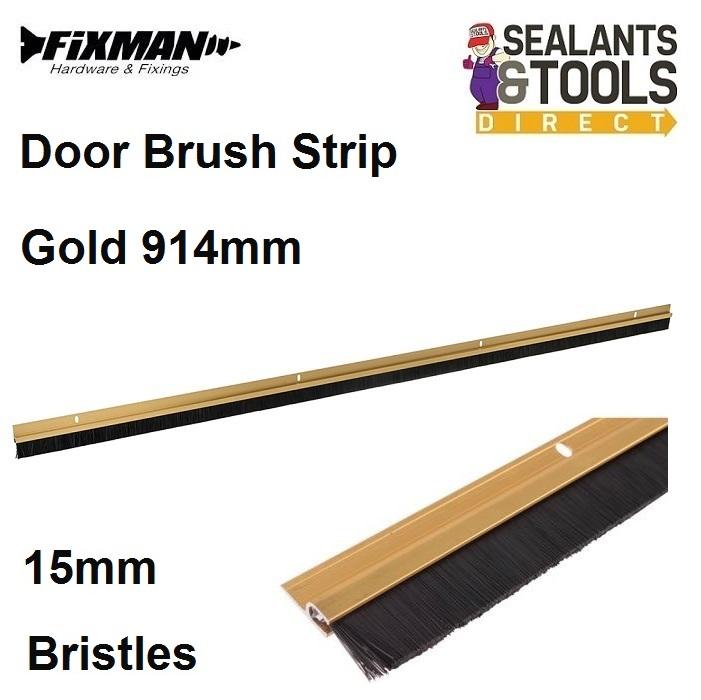 Fixman-Gold-Door-Brush-Strip-15mm-Bristles-771302