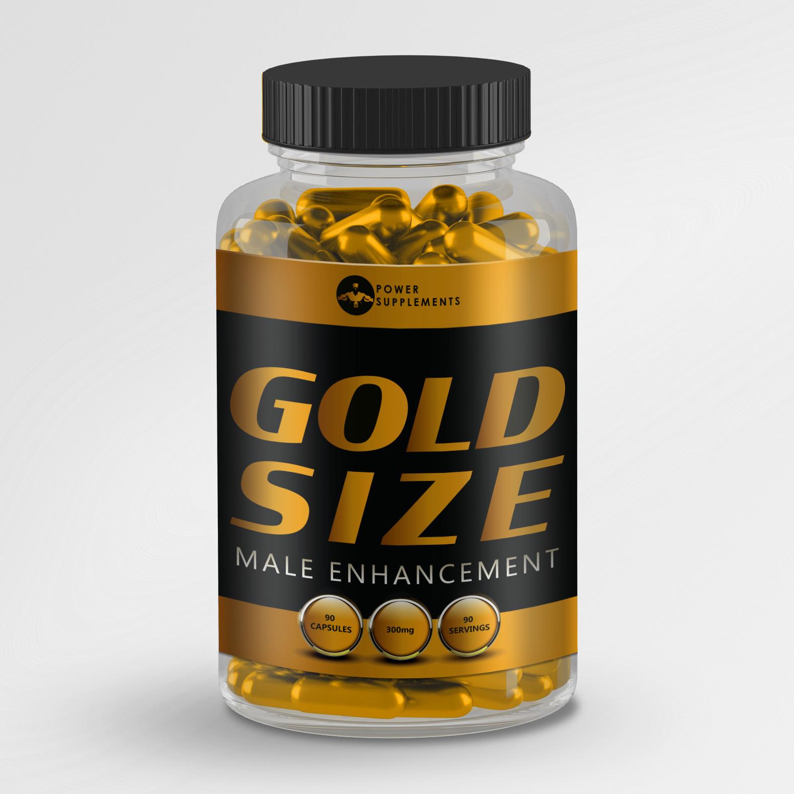 GOLD SIZE - MALE ENHANCEMENT PENIS ENLARGEMENT PILLS - 90