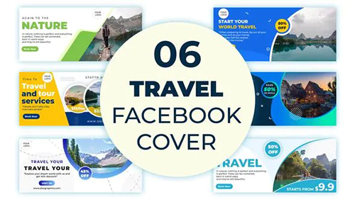 Travel Facebook Cover 33359471 - Project for After Effects (Videohive)