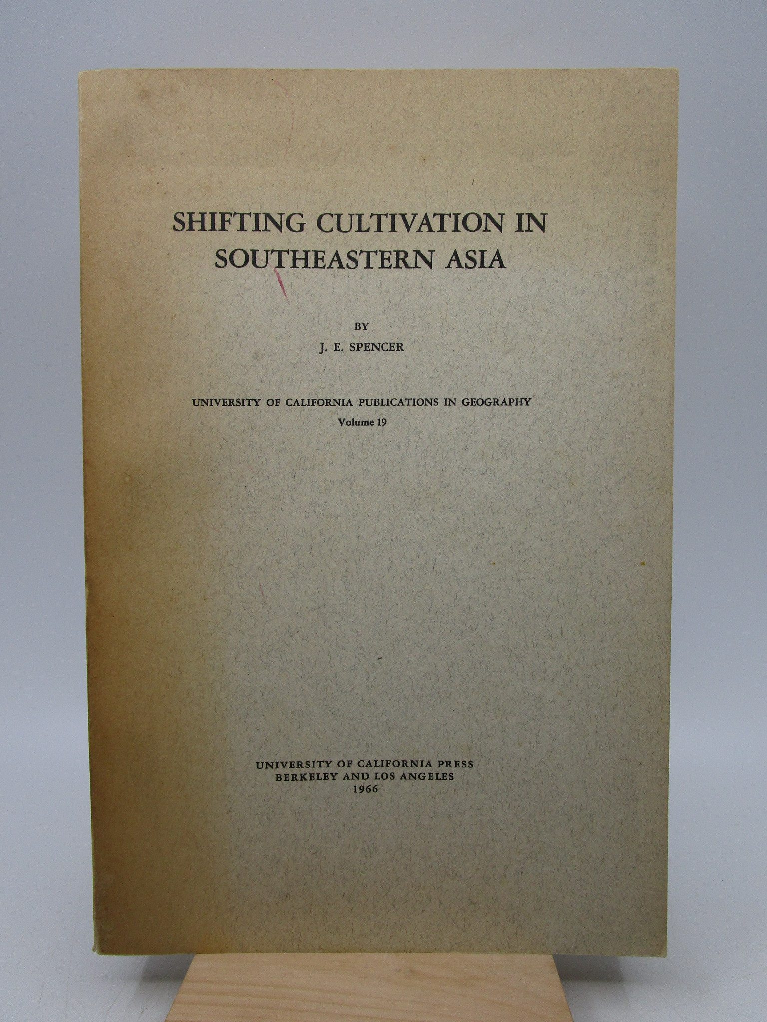 Image for Shifting Cultivation in Southeastern Asia (volume 19) First Edition
