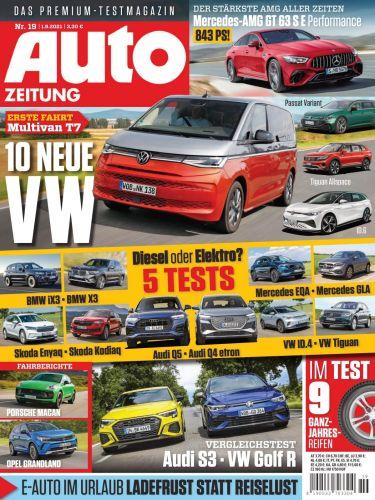 Cover: Auto Zeitung Premium Test-Magazin No 19 vom 01  September 2021