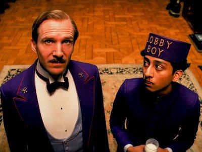 Gustave M. (Ralph Fiennes) with Zero (Tony Revolori)