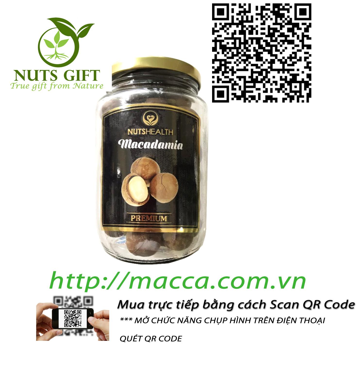 HẠT MẮC CA MACCA ÚC – NUTSHEALTH – 400 GR