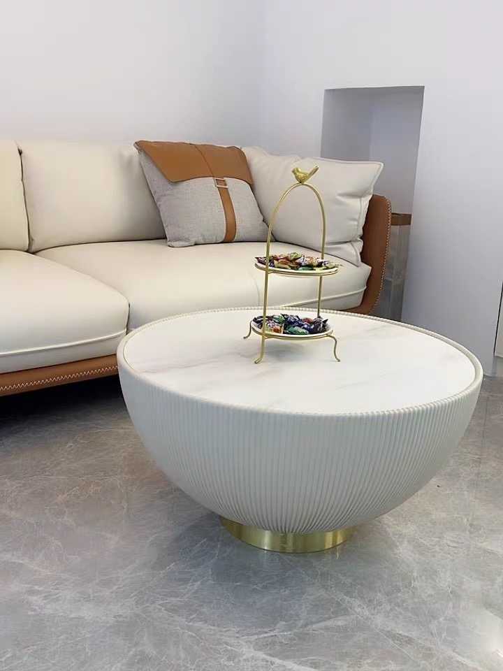 Theo coffee table set white and black