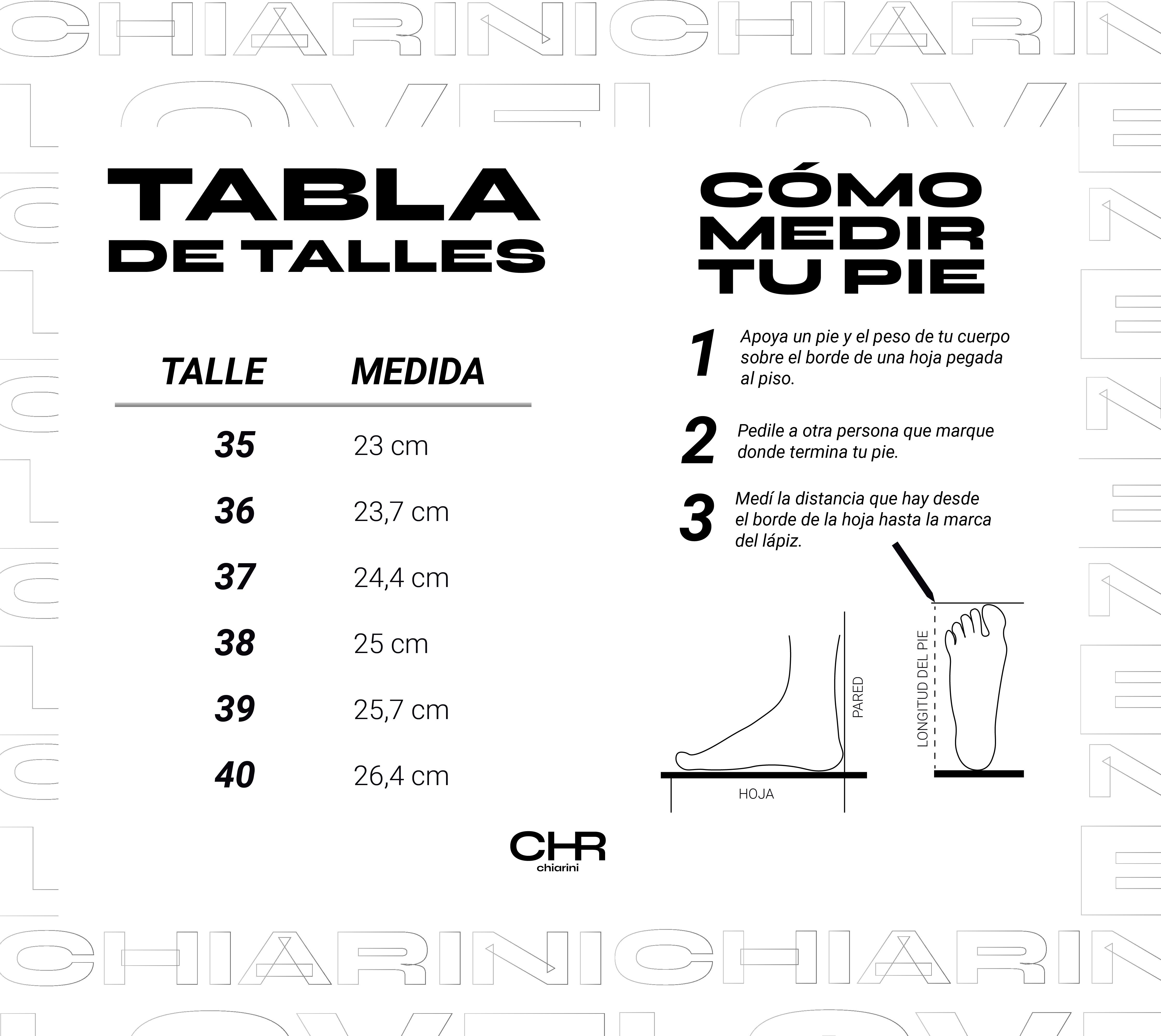 tabla de talle