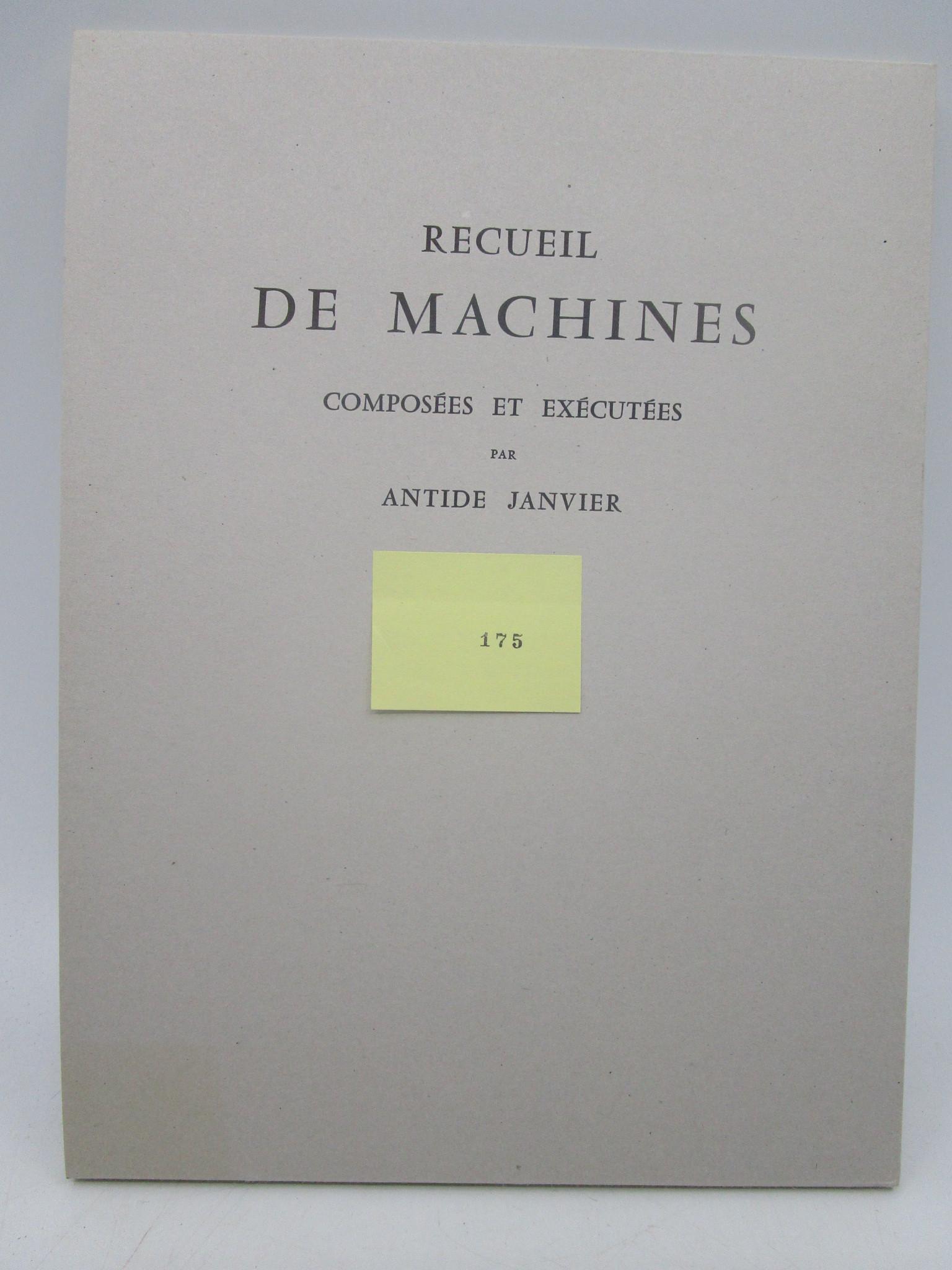 Image for Recueil de Machines composees et executees par Antide Janvier (Collection of compound machines and enforced by Antide Janvier)