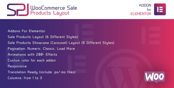 CodeCanyon - WooCommerce Sale Products Layout for Elementor WordPress Plugin - 25371121