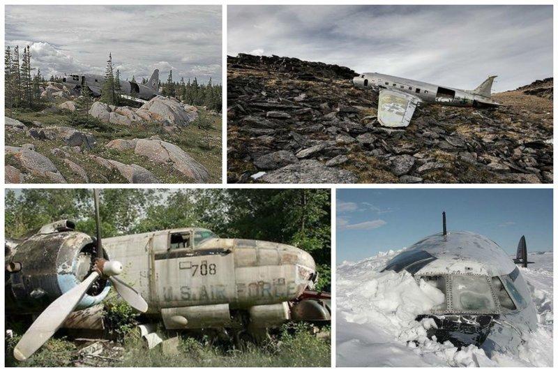 В горах и в снегу заброшенные, кладбище, самолеты, факты
