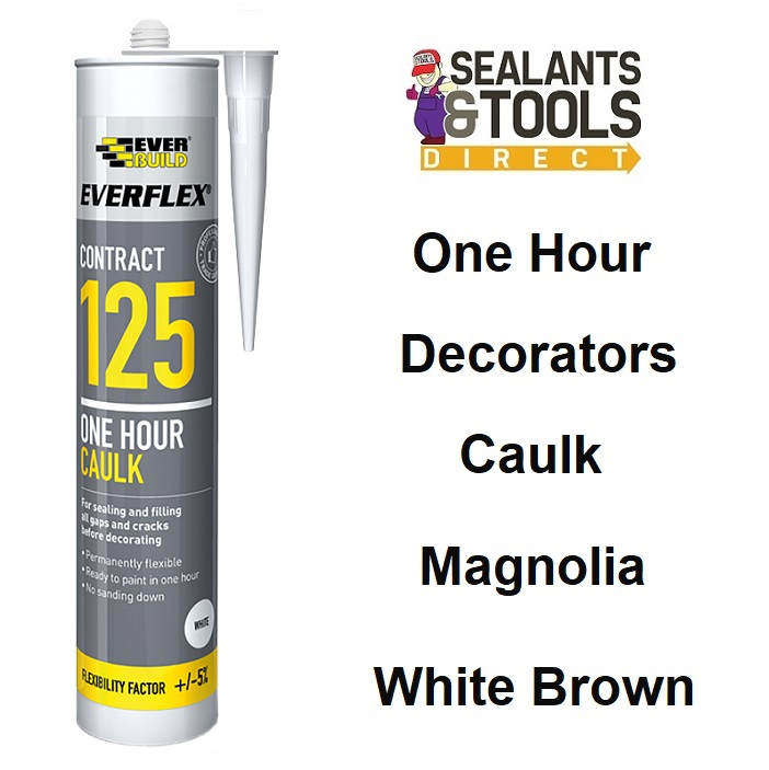 Everbuild 125 Decorators Caulk C3 White Brown Magnolia