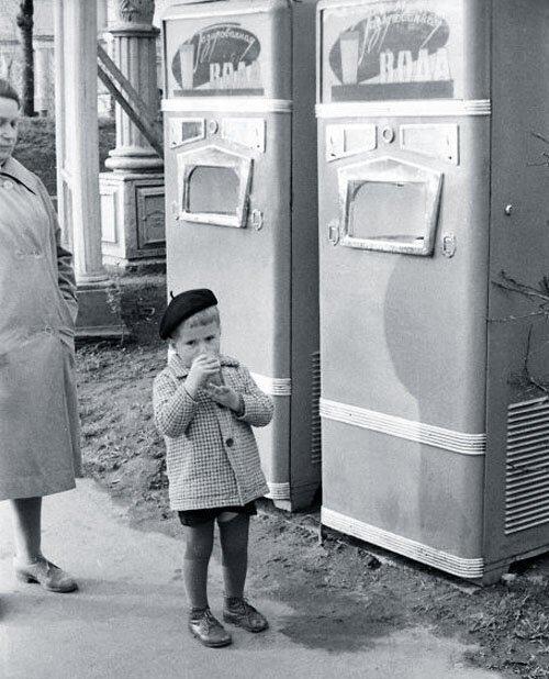 Советские автоматы по продаже газировки
