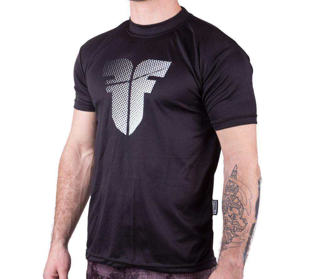 Тренировочная футболка Fighter - черная