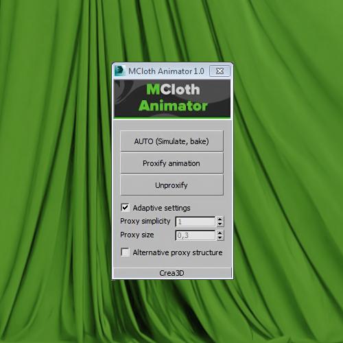 MCloth Animator