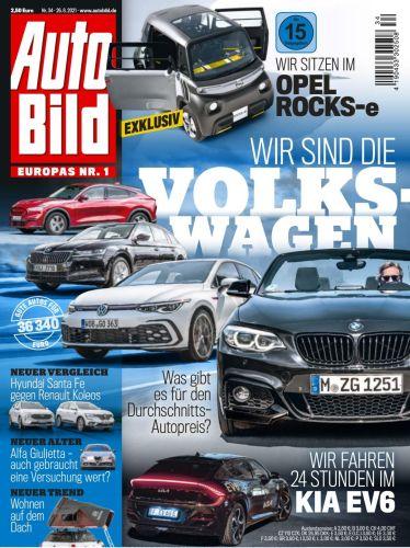 Cover: Auto Bild Magazin No 34 vom 26  August 2021