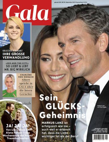 Cover: Gala Magazin No 38 vom 16  September 2021