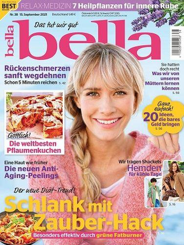 Cover: Bella Frauenmagazin No 38 vom 15  September 2021