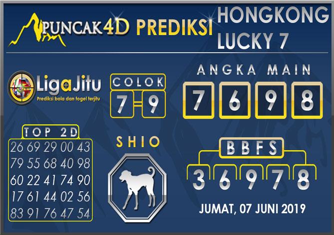 PREDIKSI TOGEL HONGKONG LUCKY7 PUNCAK4D 07 JUNI 2019