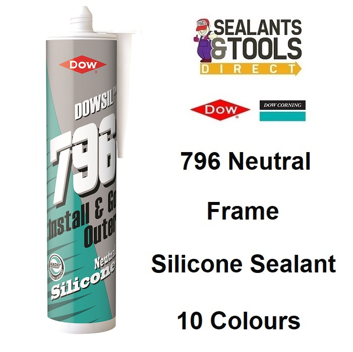 Dow Corning Dowsil 796 Silicone Sealant Coloured PVC-U Wood Aluminium