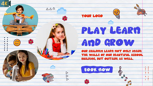Kids Promo | Kindergarten Slideshow 32985441 - Project for After Effects (Videohive)