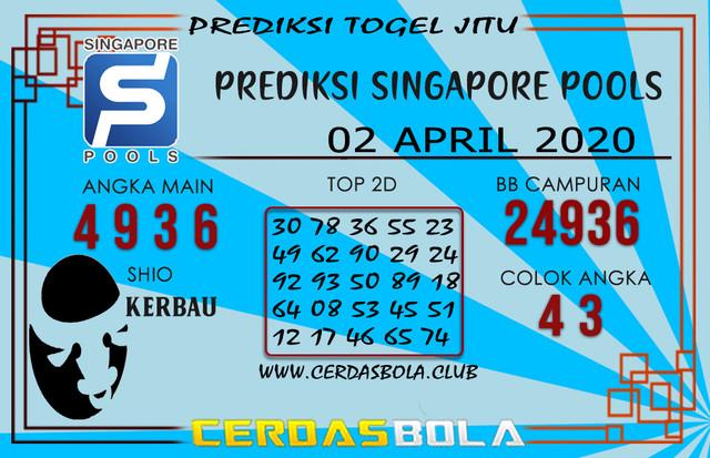 Prediksi Togel SINGAPORE CERDASBOLA 02 APRIL 2020