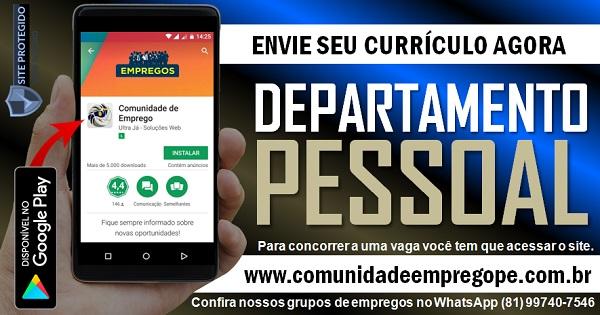 DEPARTAMENTO PESSOAL PARA EMPRESA DE ESCRITÓRIO DE CONTABILIDADE