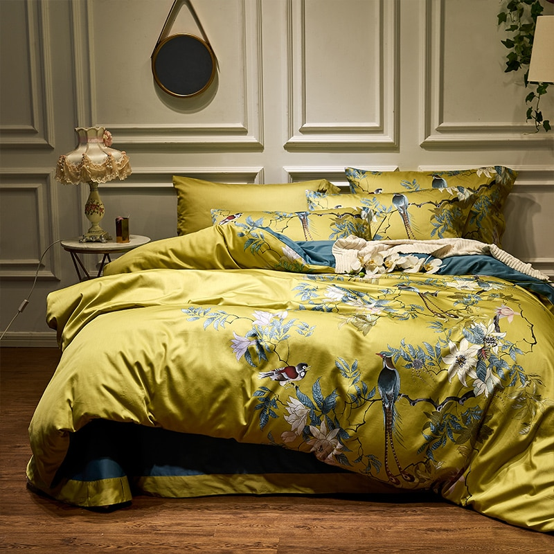 0-HD-printed-Birds-Branch-printed-Premium-Egyptian-cotton-Silky-Soft-Duvet-Cover-Family-size-US-King