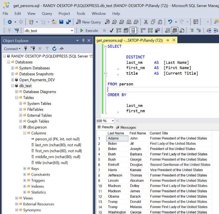 Microsoft SQL Server Management Studio (SSMS)