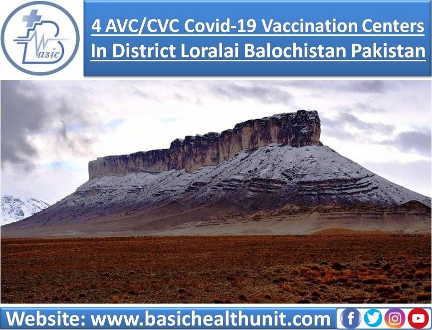 4 AVC/CVC Covid-19 Vaccination Centers In District Loralai Balochistan Pakistan