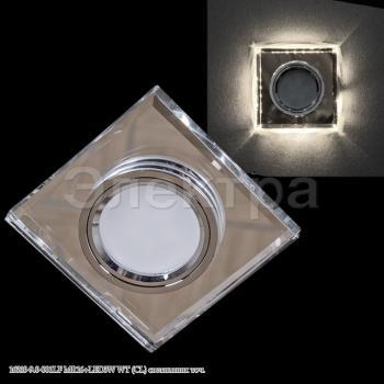 Светильник точечный 16310-9.0-001LF MR16+LED3W  WT(CL)прозрач квадратный