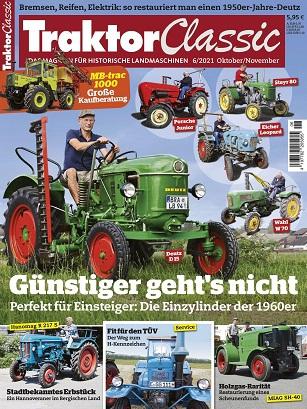 Cover: Traktor Classic Magazin No 06 ktober-November 2021