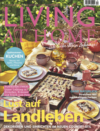 Cover: Living at Home Magazin No 09 2021