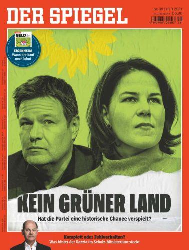 Der Spiegel Nachrichtenmagazin No 38 vom 18  September 2021