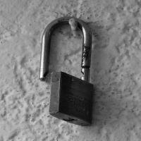 an open padlock
