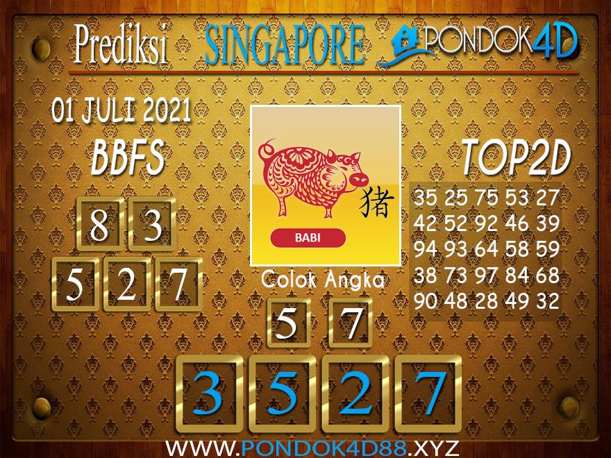 Prediksi Togel SINGAPORE PONDOK4D 01 JULI 2021