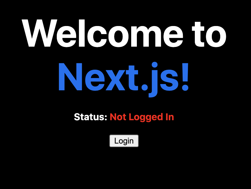 NextJS logged out state