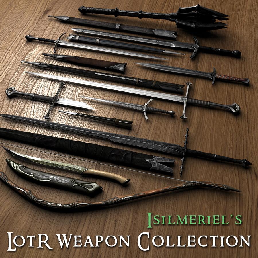 Скачать Сборник оружия из Властелина колец / Isilmeriel LOTR Weapons Collection