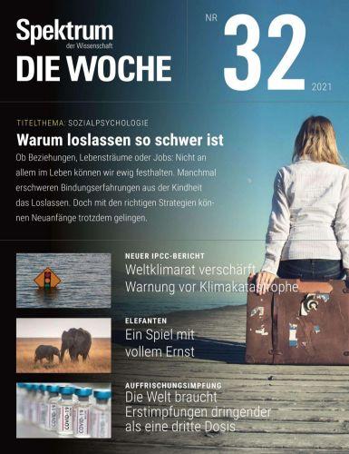 Cover: Spektrum Die Woche Magazin No 32 vom 12  August 2021