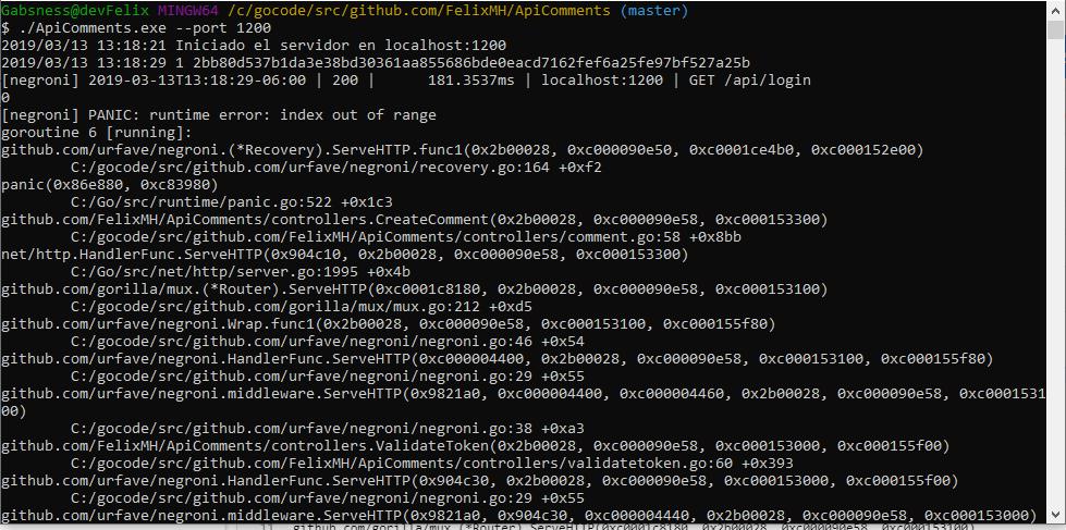 error -> index out of range