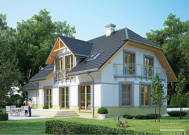 Проект дома с полумансардой