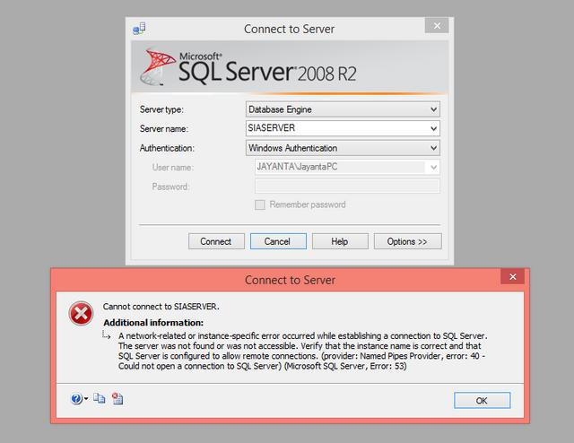 SQL-SERVER-LOGINERROR