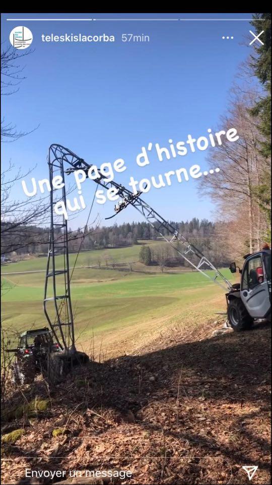 Remplacement des pylônes TKE2 La Corbatière (Neuchâtel, Suisse) Demontage-pylone-corba