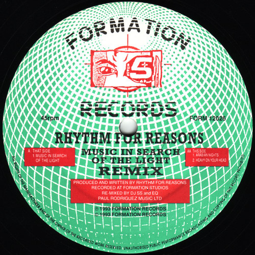 Rhythm For Reasons - Music In Search Of The Light (Remixes) 1993