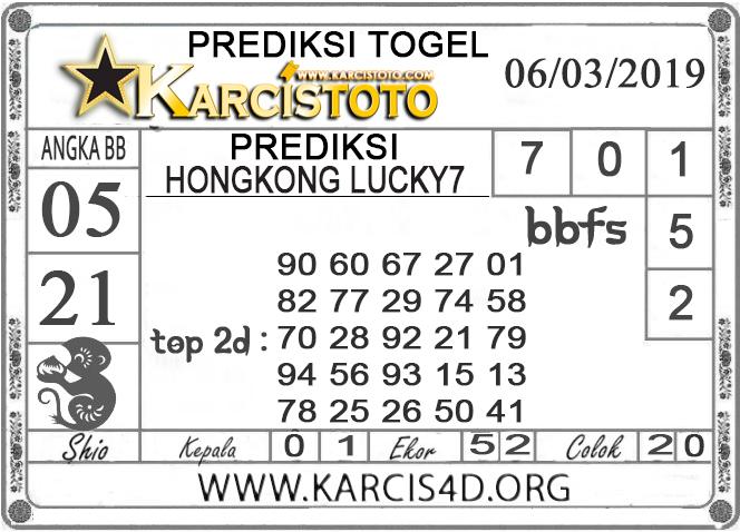 Prediksi Togel HONGKONG LUCKY 7 KARCISTOTO 06 MARET 2019