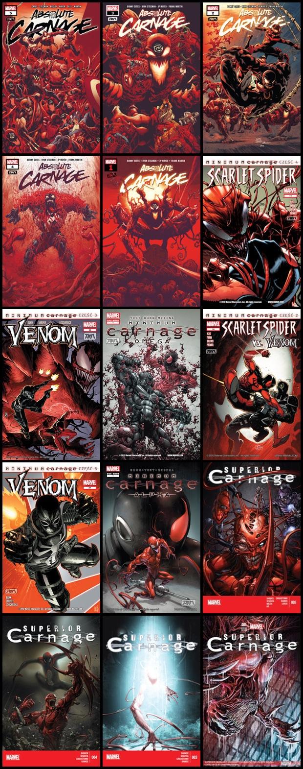 Carnage - Różne Komiksy