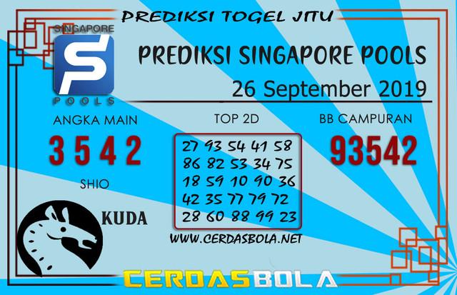 "Prediksi Togel ""SINGAPORE"" CERDASBOLA 26 SEPTEMBER 2019"